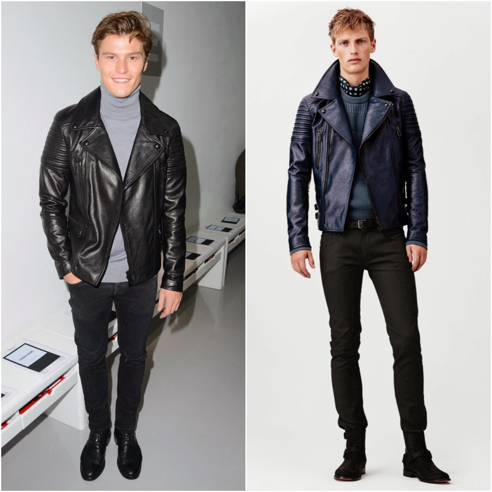 Oliver Cheshire in Belstaff - London Collections: Men FW2014 Day 3 #LCM