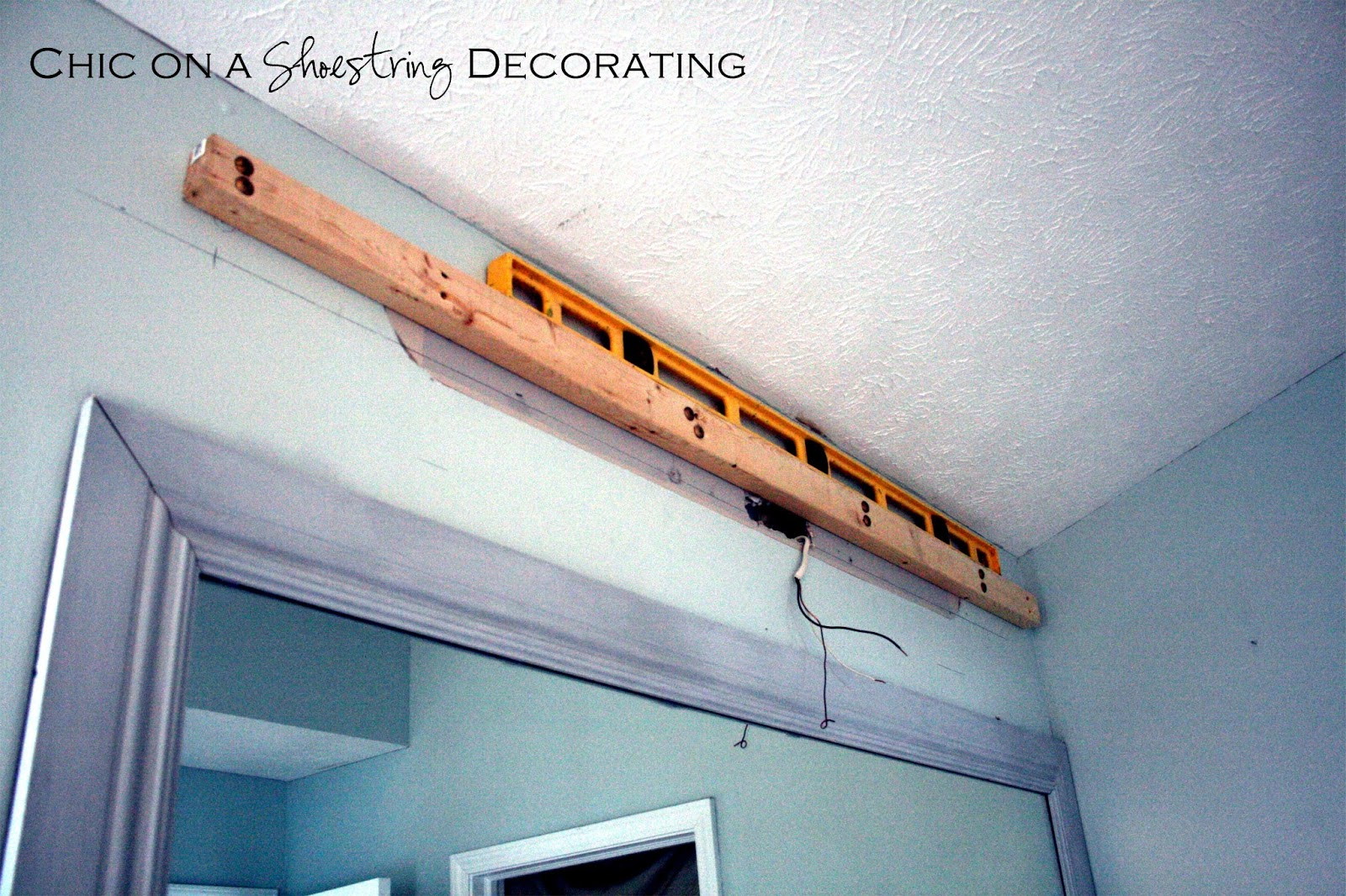 Bathroom Light Fixtures Diy chic on a shoestring decorating: how to build a bathroom light fixture