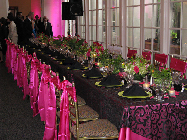 Pink Black Wedding