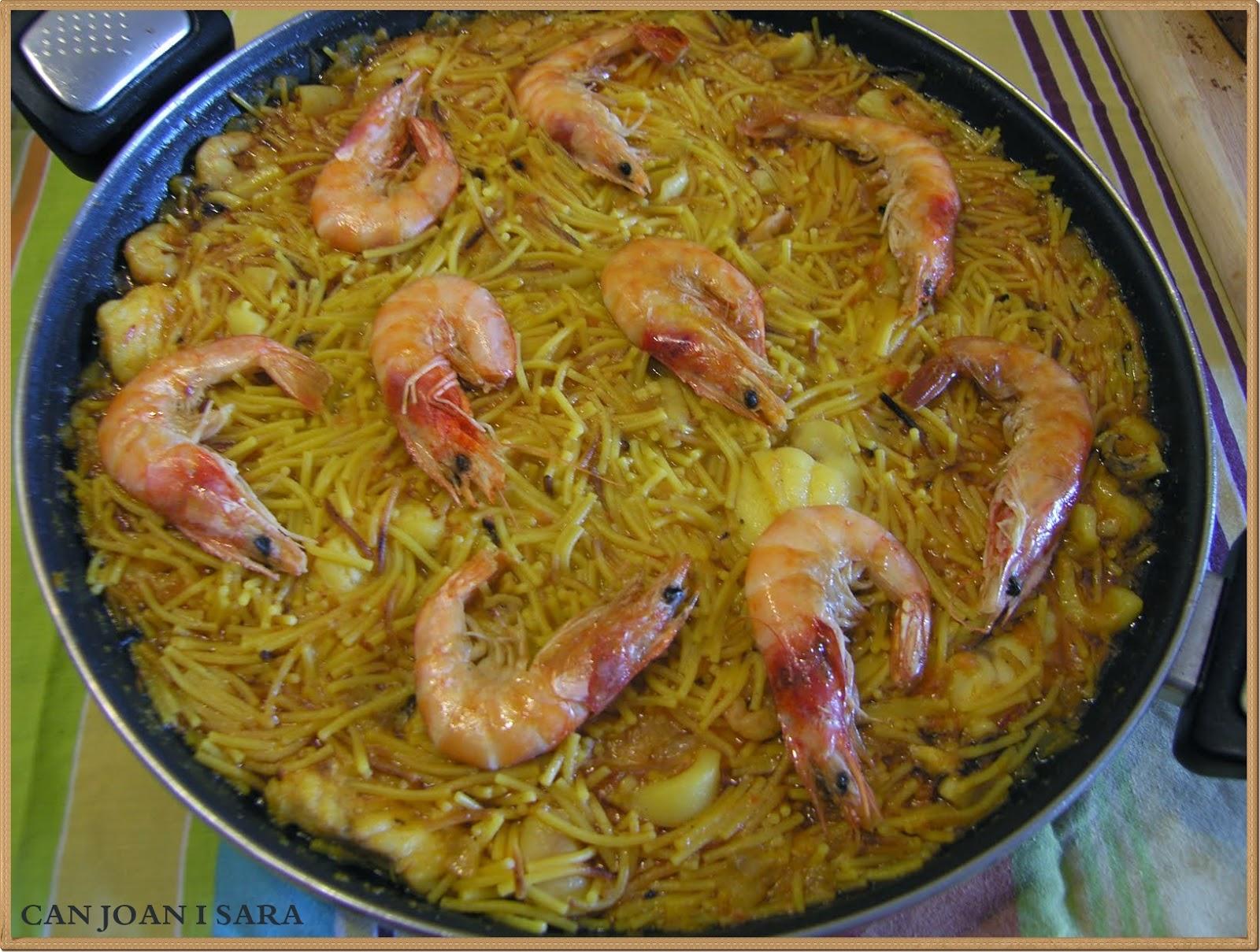 Fideua marinera recetas de cocina - Cocina con sara paella ...