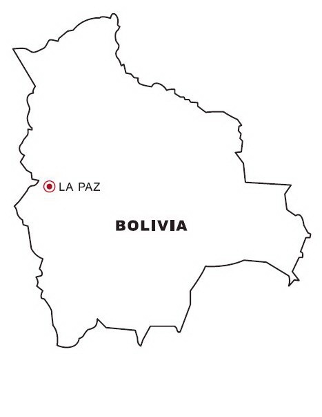 mapa de bolivia para colorear