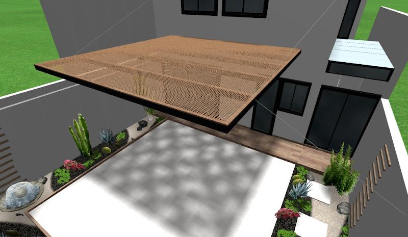 ideas de pergolas - techados de sombra para jardines