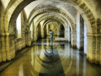 Cripta anegada de la Catedral de Winchester