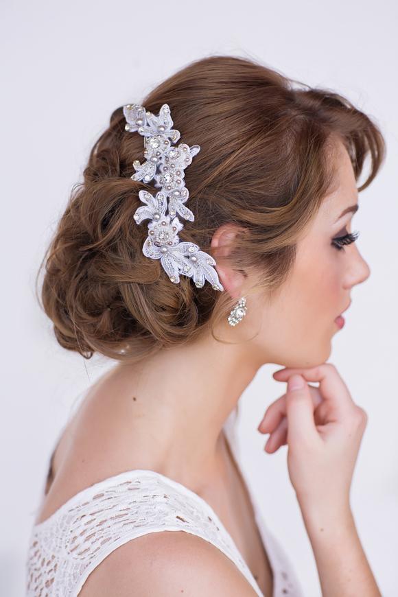 Chelsea Bridal Headpiece - www.perlejewellerymakeup.com.au