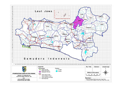 Peta Orientasi Kabupaten Demak Dalam Jawa Tengah