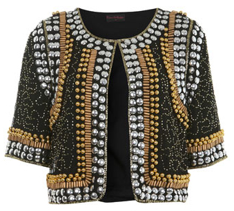 miss selfridge beaded embellished jacket