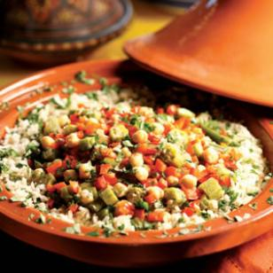Okra & Chickpea Tagine Recipe