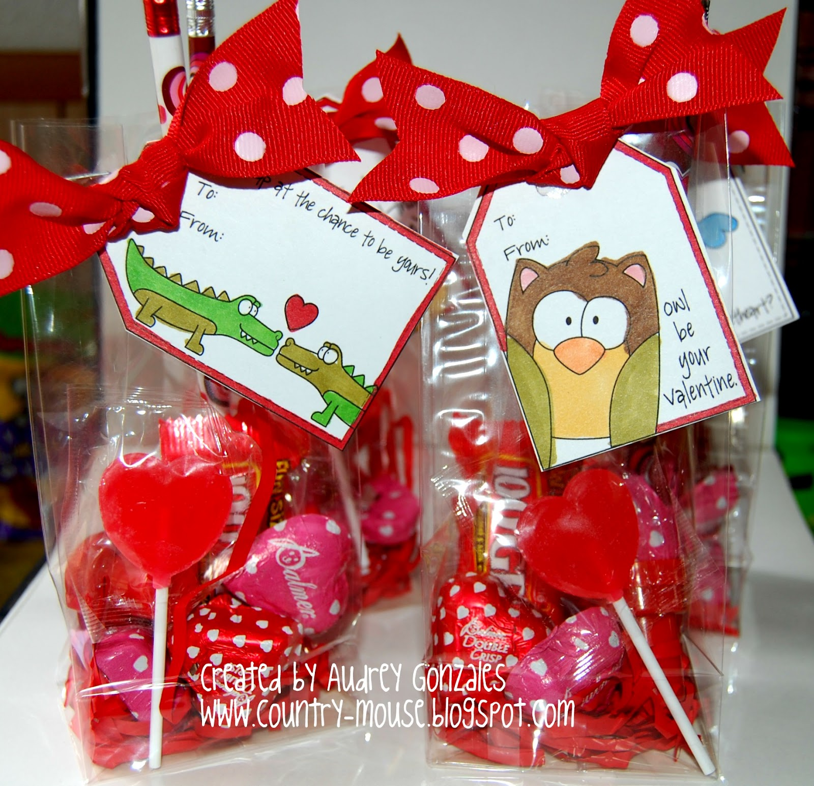 A Day In The Life Of A Country Mouse Valentine S Day Treat Bags