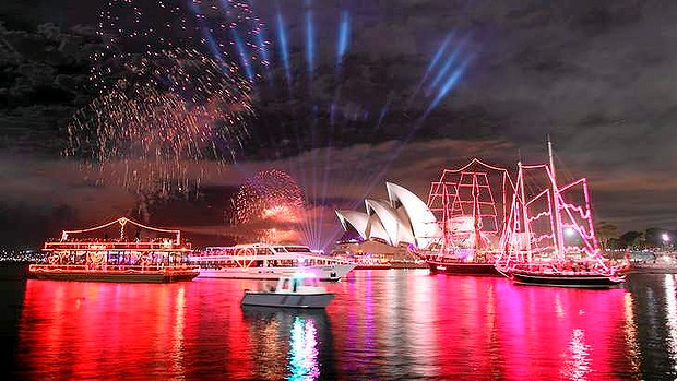 starting the new years eve countdown in sydney