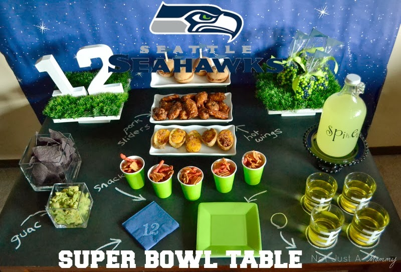 Seattle Seahawks Super Bowl party table