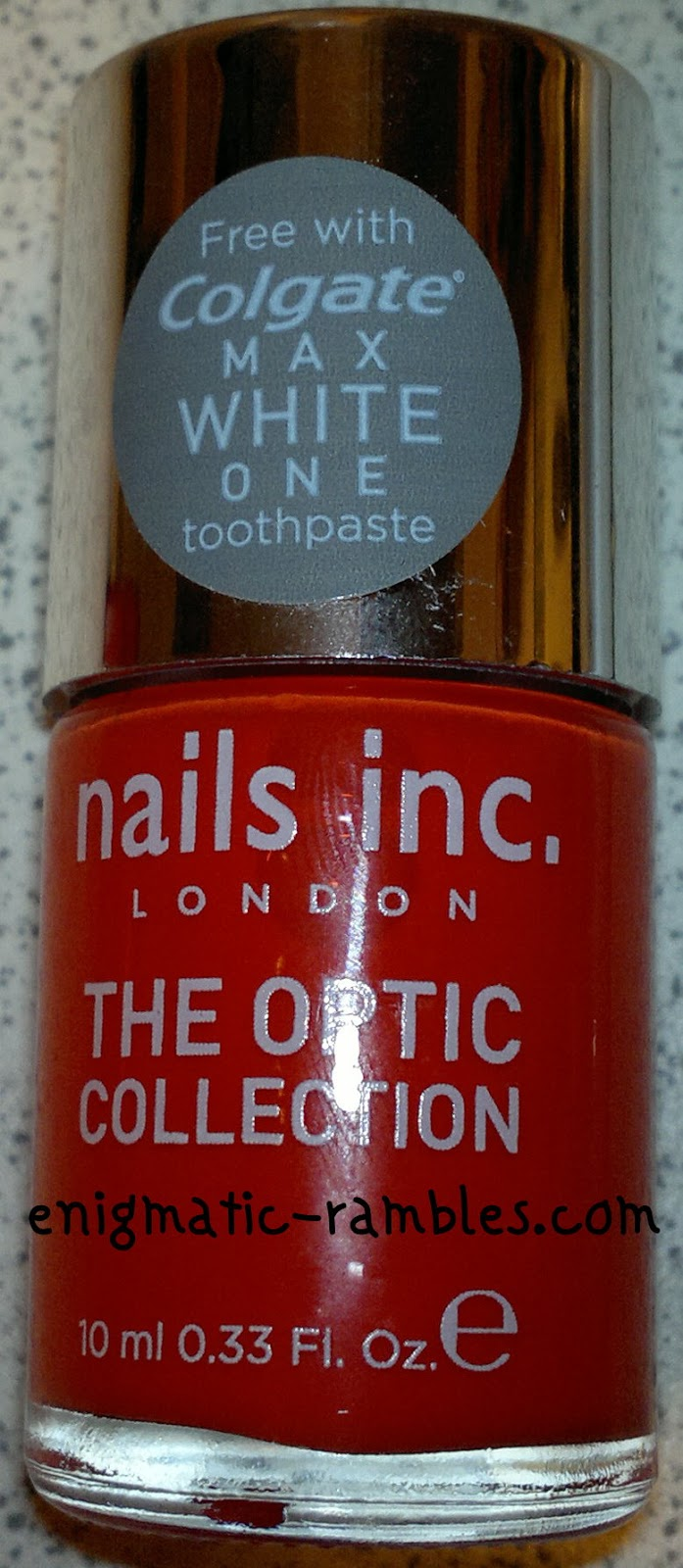 Colgate-Max-White-One-Optic-Toothpaste-Nails-Inc-Optic-Flame-swatch