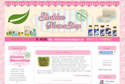 Edit Blog Shaklee MamaShop