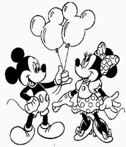 Mickey Mouse Coloring Sheet