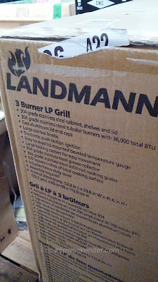 Landmann model 42170 3 Burner LP Gas BBQ Grill uses propane to better temperature control