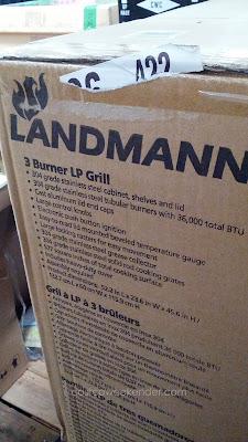 Landmann model 42170 3 Burner LP Gas BBQ Grill uses propane to better temperature control