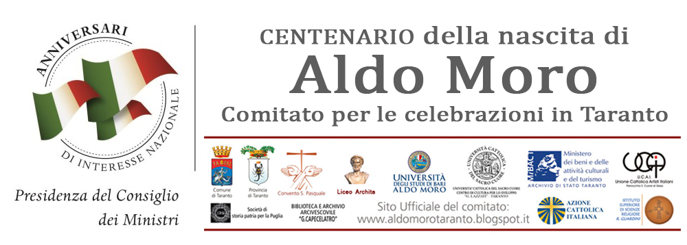 Comitato tarantino centenario nascita Aldo Moro