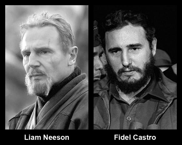 Liam neeson looks like fidel castro 10