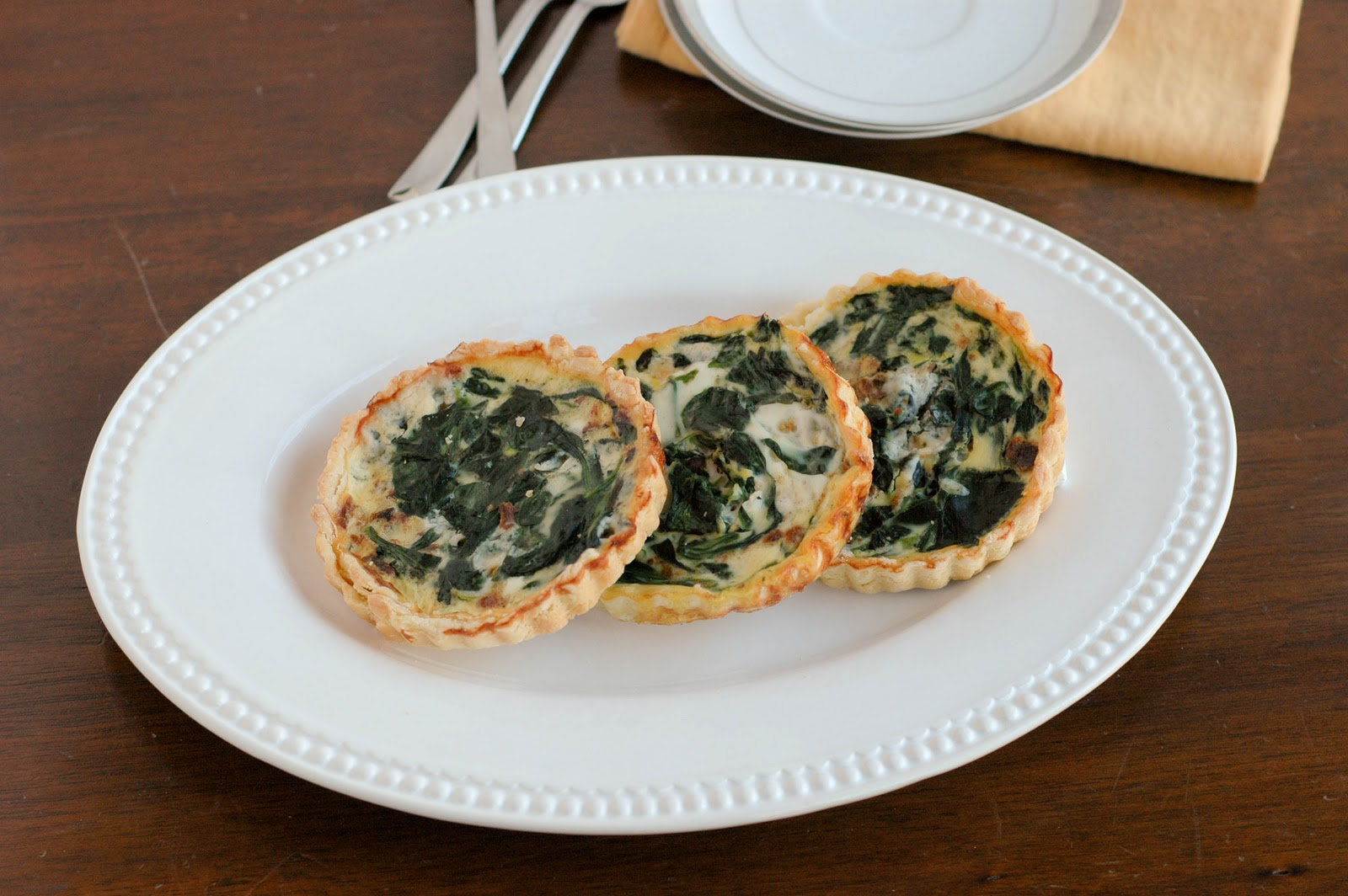 ... Good Food: Spinach Blue Cheese Bacon Mini Quiche {Secret Recipe Club