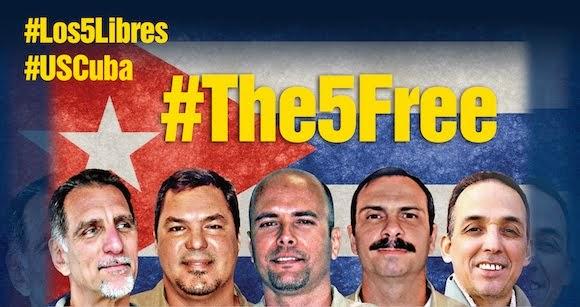 Los Cinco ya estan en la Patria