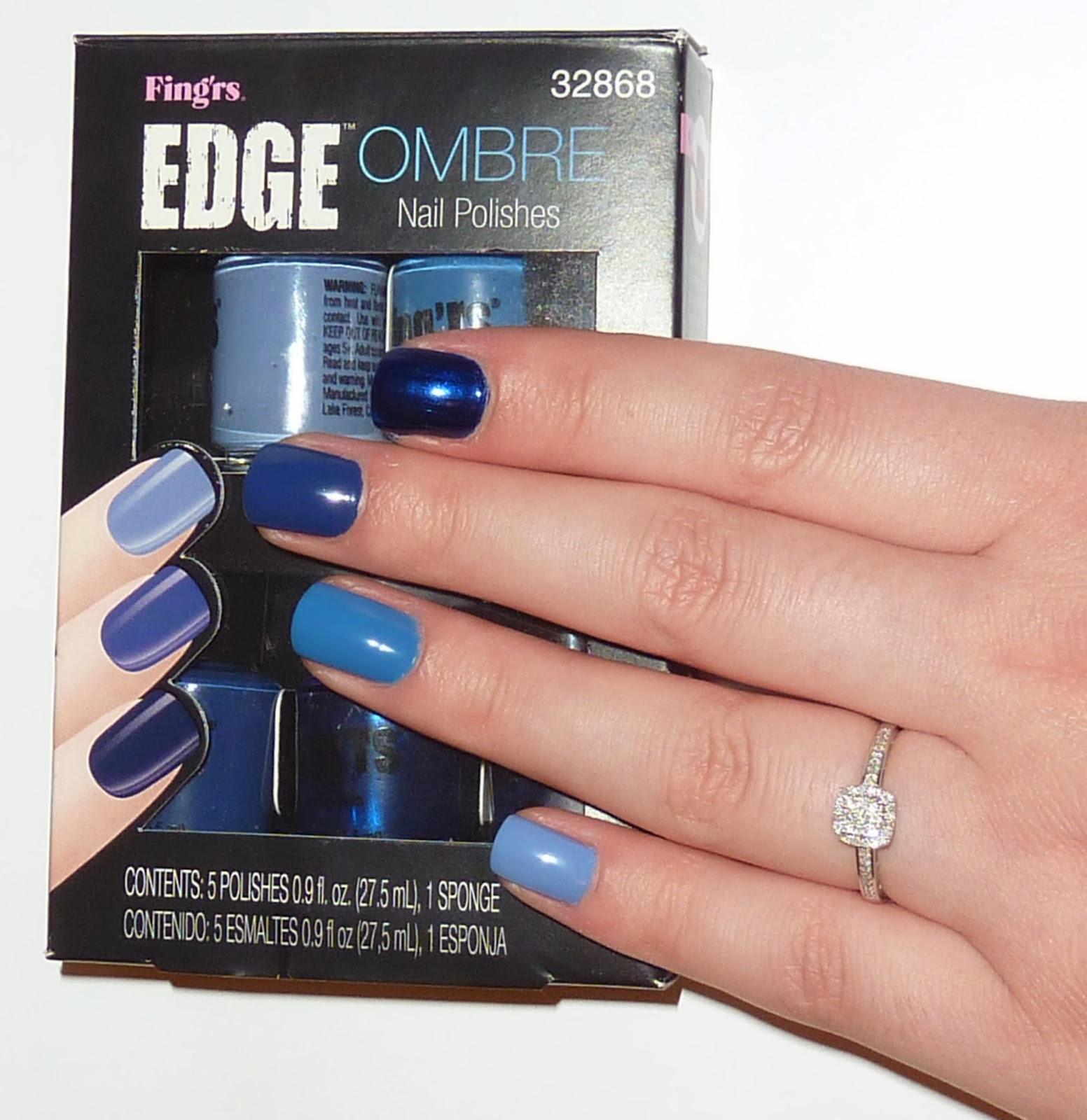 Sophie Jenner: NAILS | FING\'RS BLUE OMBRE NAIL SET REVIEW*