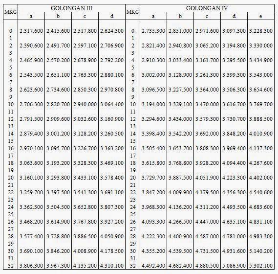 Tabel Gaji Pns 2015 Kenaikan Gaji Dan Tunjangan | Economics Books