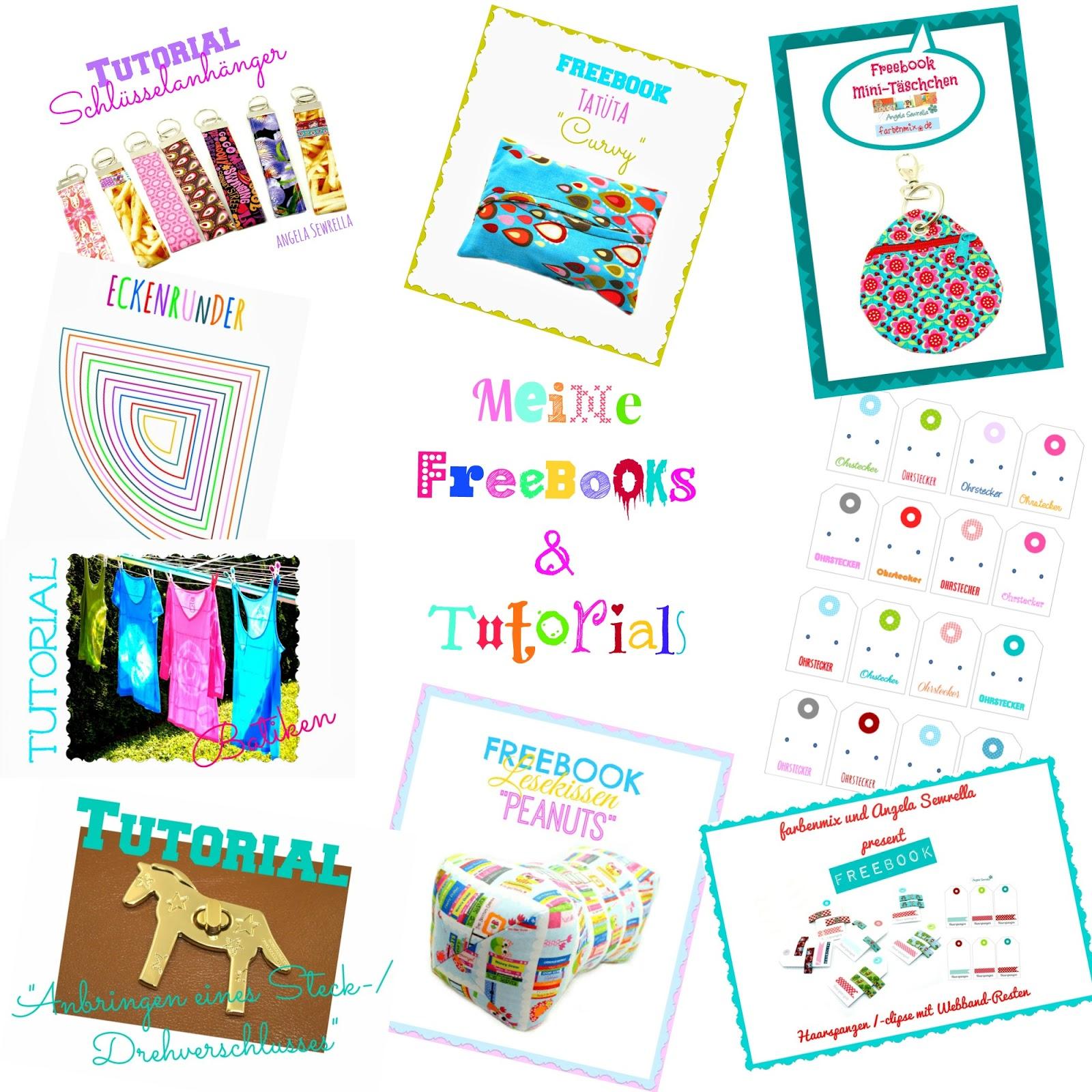 meine Freebooks und Tutorials zum nähen auf meinem Blog