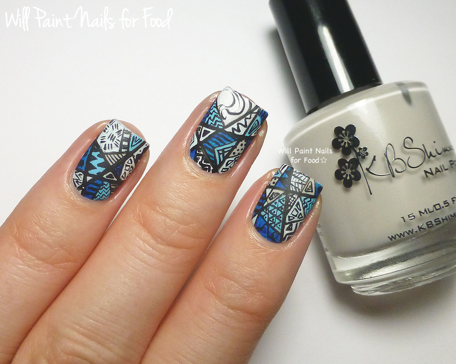 31 Day Nail Art Challenge 2.0: Day Six, Monochromatic | Will Paint ...