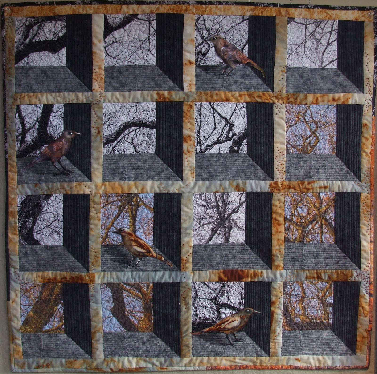 Linda kemshall quilts for Window quilt