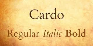 Γραμματοσειρά Cardo