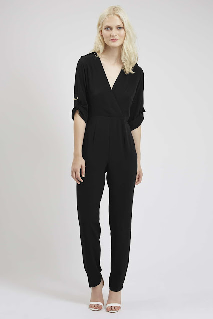 black v neck jumpsuit, utility jumpsuit black, jumpsuit with epaulettes,