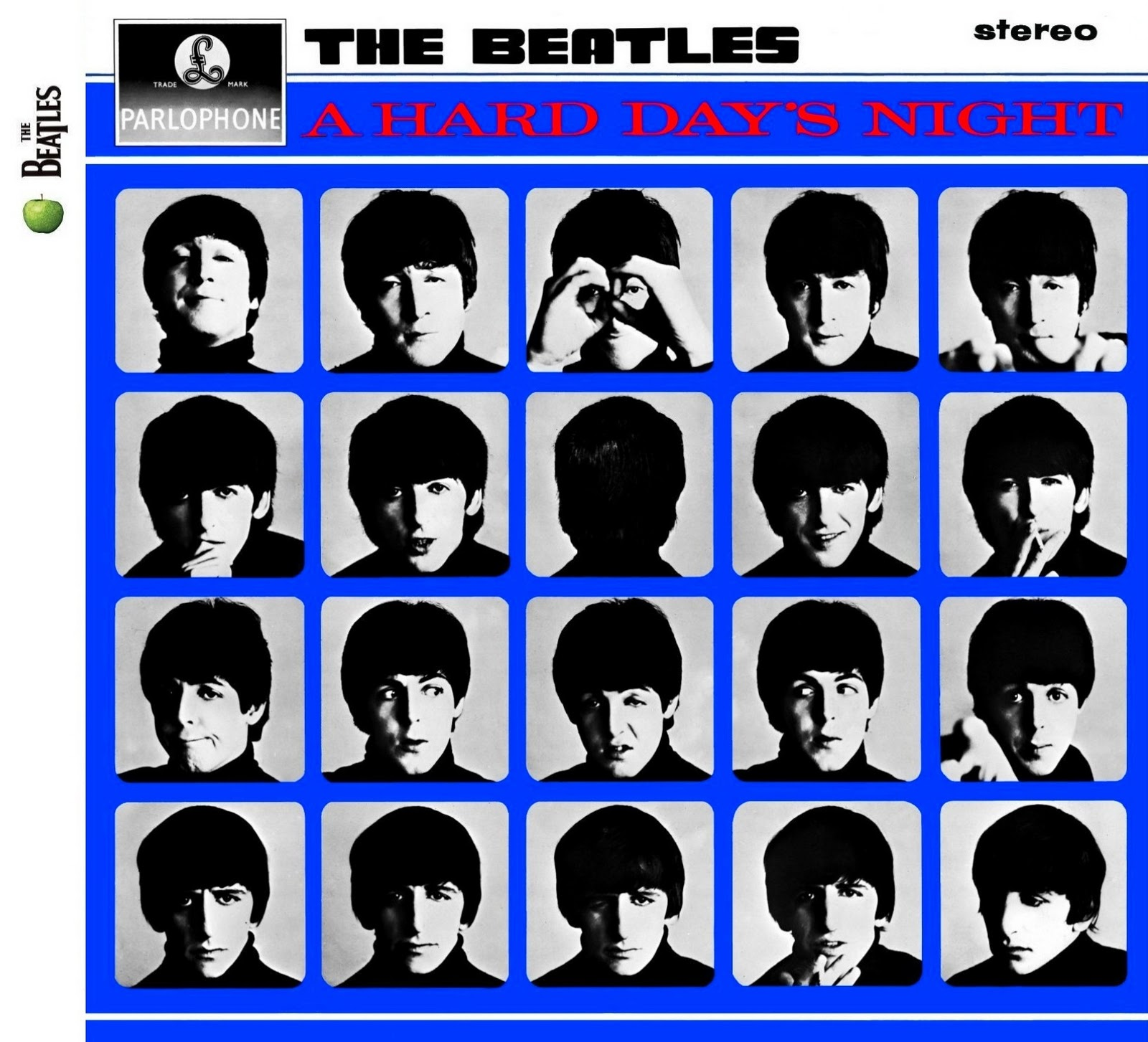 「A Hard Day's Night」ジャケットのビートルズ
