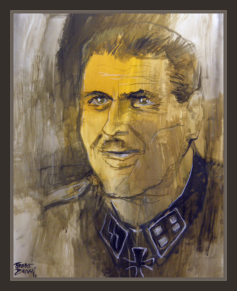 SKORZENY-SS-JAGDVERBANDE-FRIEDENTHALER-ART-WW2-PAINTINGS-PINTURA-COMANDOS-RETRATOS-ERNEST DESCALS-