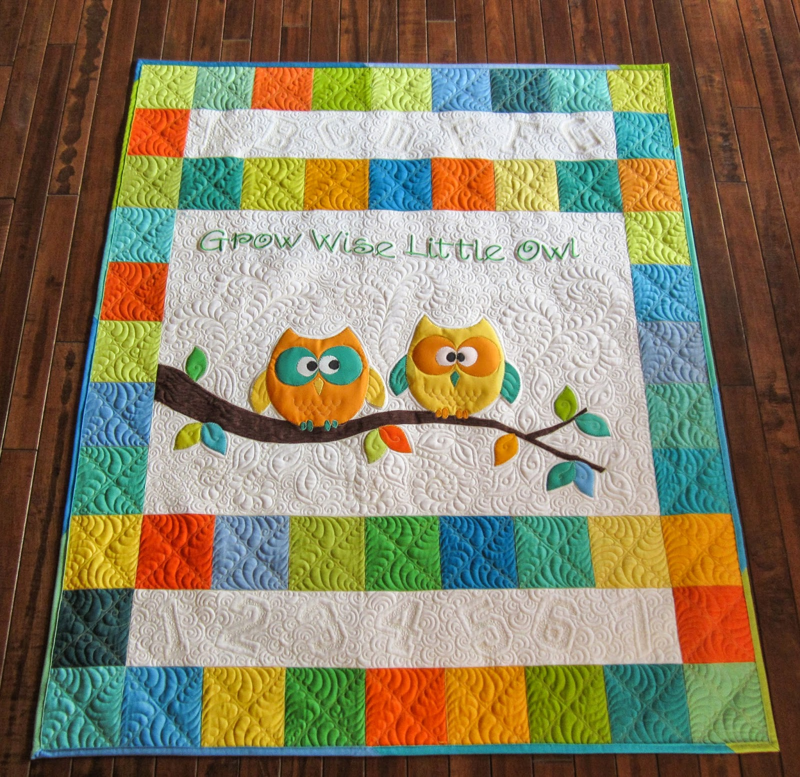 Sue Daurio s Quilting Adventures: Bloggers Quilt Festival Spring 2015 - small quilt - Grow Wise ...