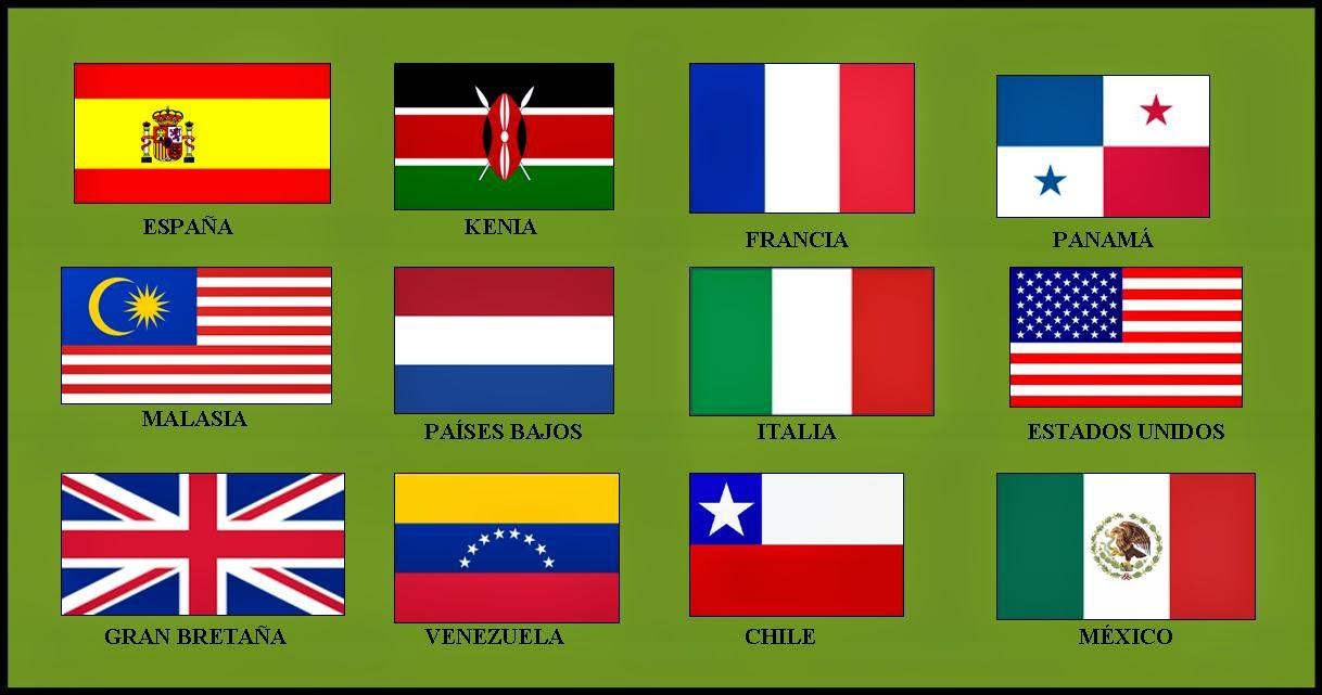 Banderas De Paises Con Sus Nombres Textos Noticias Y