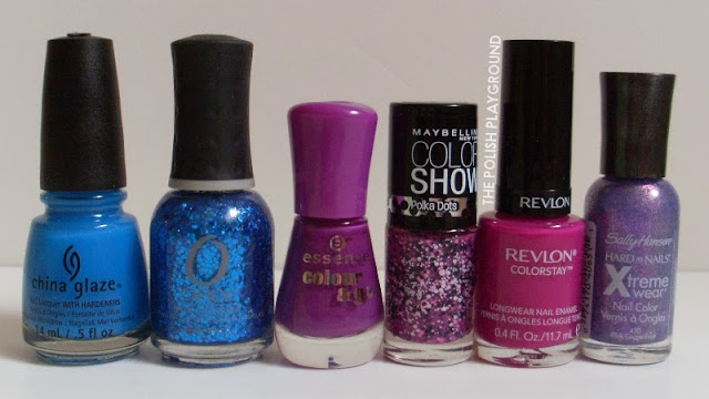 China Glaze, Orly, Essence, Maybelline, Revlon, Sally Hansen