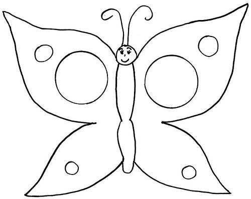 Aprender y divertirse todo en uno mariposas para - Dibujos de navidad para colorear e imprimir grandes ...
