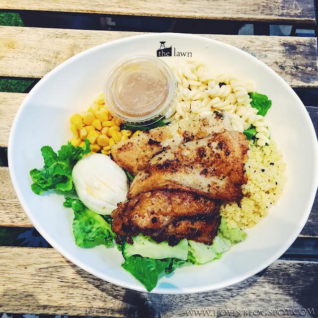 the lawn cafe biopolis review dory fish salad jjoyis