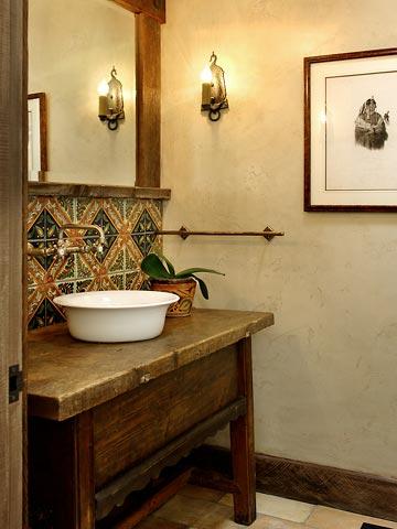 30 ideias para decorar o lavabo integrado cores da casa - Lavabo para cocina ...