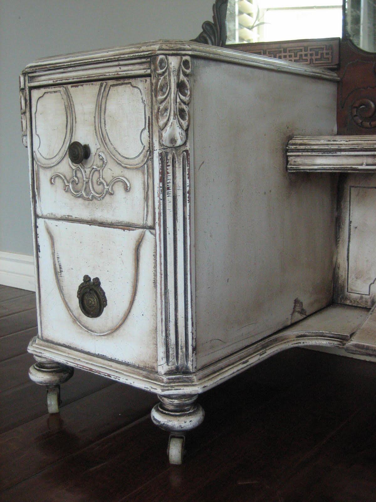 European paint finishes antique dressing vanity