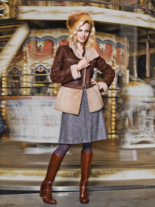 Мода 2015 пропагандирует женские дубленки