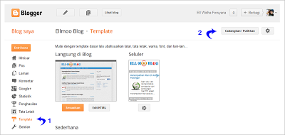 Halaman Template Blogger