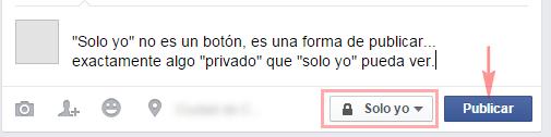 """""""Solo yo"""" permite poner algo en privado - MasFB"""
