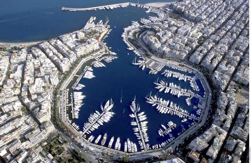 Mikrolimano desde el aire. Piraeus (Atenas, Grecia)