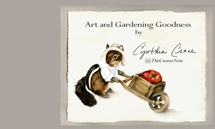 Cynthia Cranes Whimsical Animal Paintings, Porcelain Ceramics and Gardening Goodness