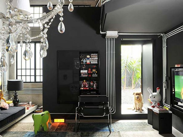Black Color House Unusual Interior Decoraci N De Interiores Con Paredes Y Muebles Negros Casa Moderna