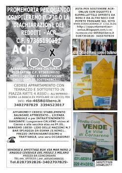 Acr (Onlus) ..5 x 1000 all'ACR? Sì grazie!