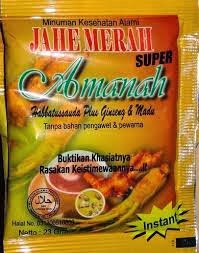 Jahe Merah di Toko Obat Herbal Lampung