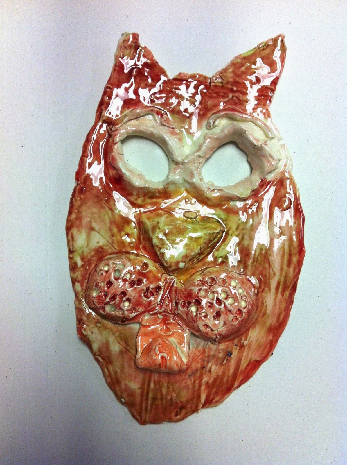 chumleyscobey art room clay animal masks with 3rd grade