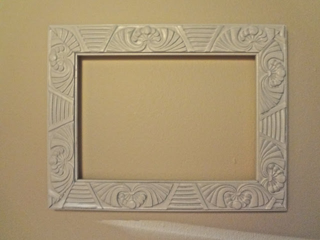 Empty frame painted white