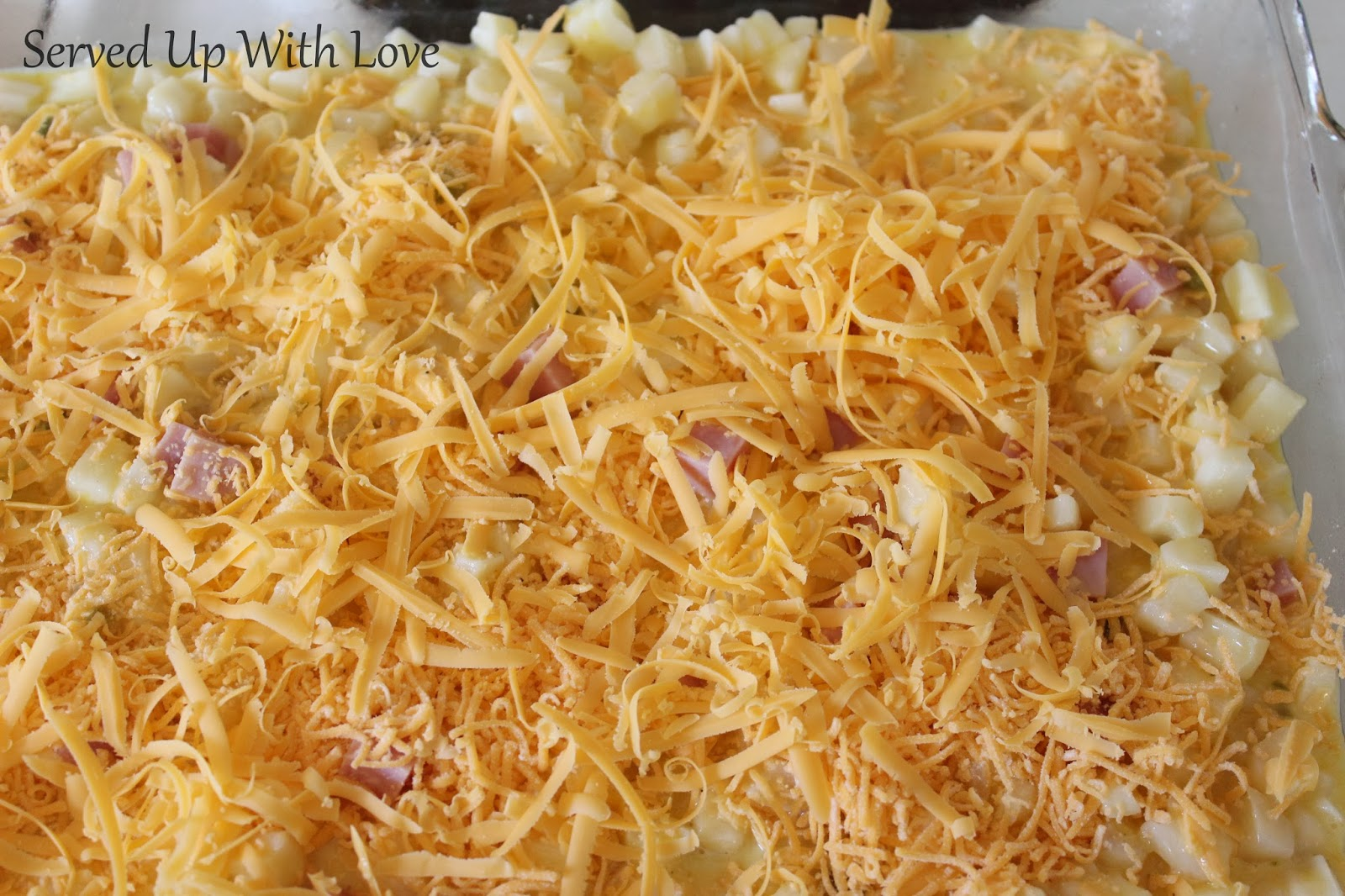 Served Up With Love: Ham and Cheese Breakfast Casserole